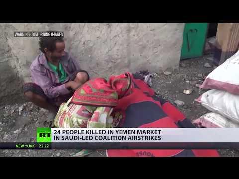 24 people killed in Yemen market in Saudi-led coalition airstrikes (DISTURBING)
