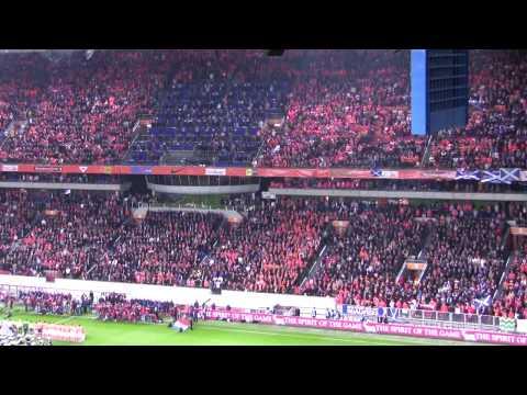 Het Wilhelmus  - Dutch national anthem before Netherlands v Scotland football game in Amsterdam
