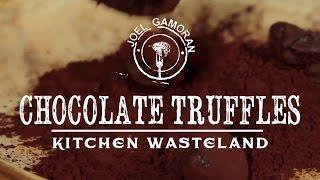 Chocolate Espresso Truffles Recipe • {kitchen Wasteland} •joel Gamoran