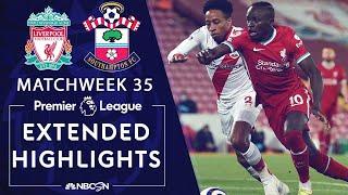 Liverpool v. Southampton | PREMIER LEAGUE HIGHLIGHTS | 5/08/2021 | NBC Sports