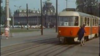 Straßenbahn und Standseilbahn Dresden 1986 DDR Tram