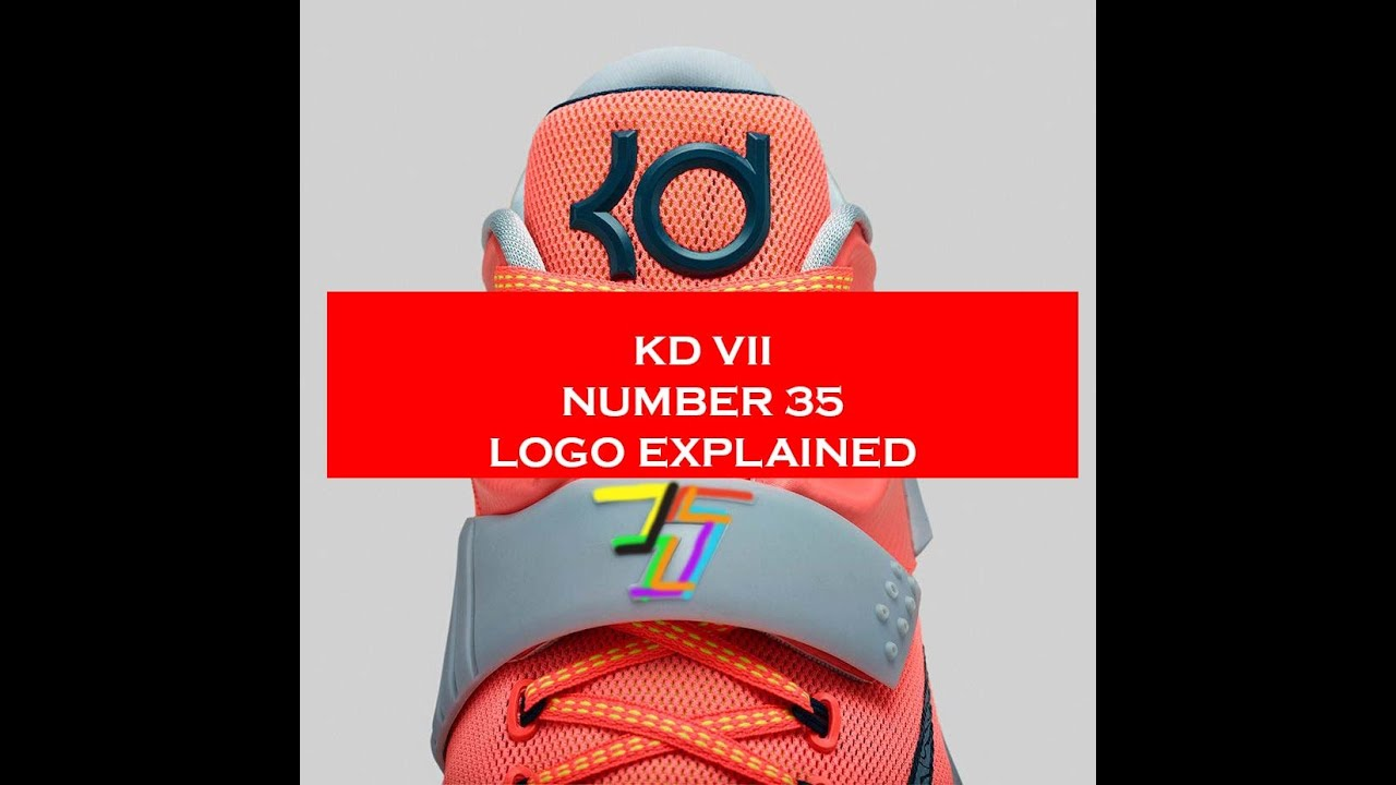 096b964dba3 The 7 s in KD 7 VII Number 35 Logo Secret Explained - YouTube
