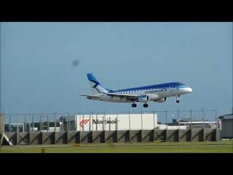 Estonian Air - Embraer 170 - Lands at AMS (ES-AEA)