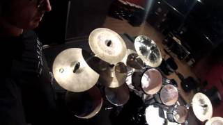 HORNCROWNED - Studio recording - Drum session with Thyr