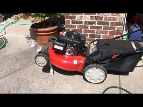 How To FIX a TROY BILT Lawnmower HONDA Engine WILL NOT START, STARTS then DIES. WATER in GAS
