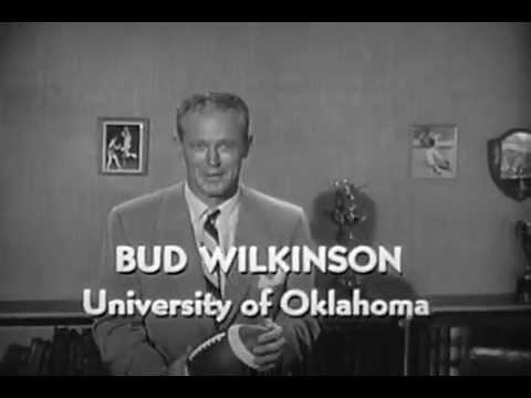 VINTAGE 1959 QUAKER OATS OATMEAL COMMERCIAL - BUD WILKINSON UNIVERSITY OF OKLAHOMA