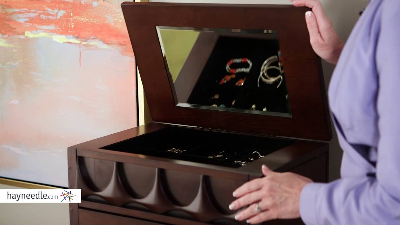 Belham Living Mid Century Modern Jewelry Armoire Product Review Video