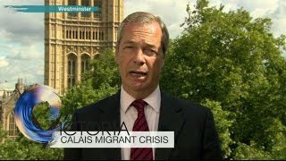 Nigel Farage: My car has been surrounded by Calais migrants - BBC News