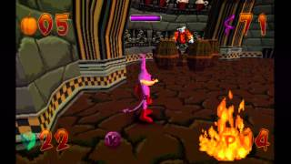 Jersey Devil (PS1) Gameplay Part 5 (Cemetery - The Crypt)