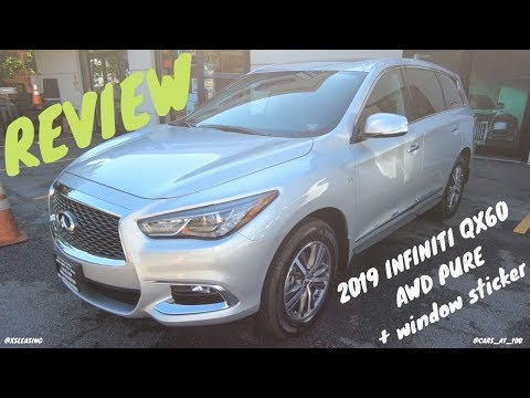 2019 INFINITI QX60 AWD PURE (BASE) REVIEW -- BARGAIN LUXURY SUV !