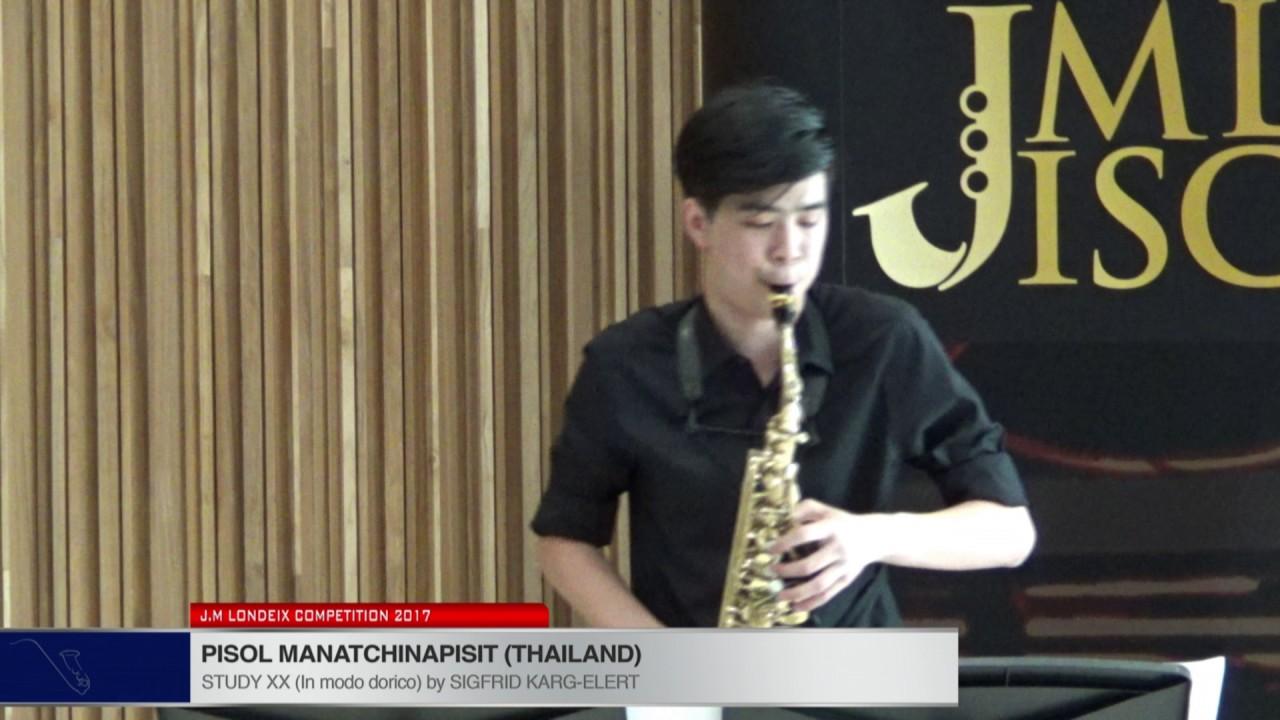 Londeix 2017 - Pisol Manatchinapisit (Thailand) - XX In Modo Dorico by Sigfrid Karg Elert