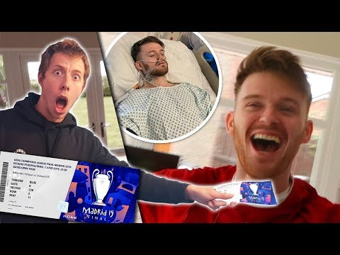 SURPRISING MY BEST FRIEND WITH CHAMPIONS LEAGUE FINAL TICKETS!