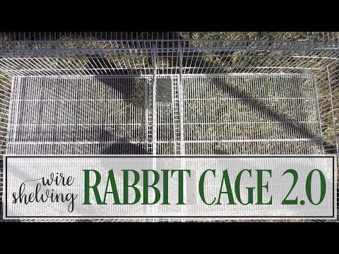 Build and Mount a DIY Wire Shelving Rabbit Cage - Version 2.0 - New and Improved Design!