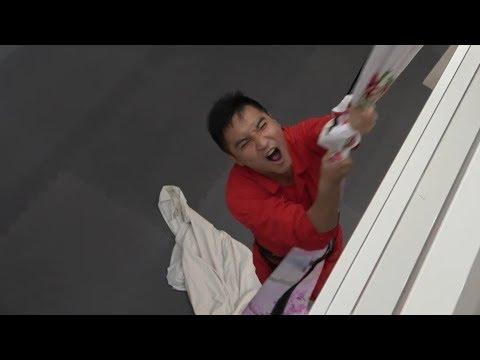 #36【谷阿莫Life】沒有繩索時我真的能拿床單代替來成功垂降嗎
