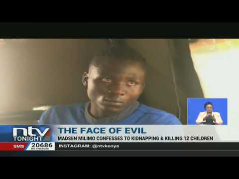 Masden Wanjala, 20-year-old self confessed serial killer, helps police recover bodies