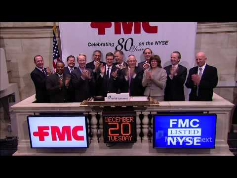 FMC Corporation rings the NYSE Closing Bell
