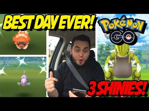 BEST DAY EVER! SHINY FEEBAS DAY in POKEMON GO! SHINY GROUDON and MORE! thumbnail