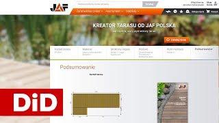 862. Taras drewniany: Wstępny projekt - kreator tarasu JAF Polska