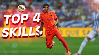 TOP 4 ★ Best Neymar Dribbling Skills & 1on1 Tricks Tutorial