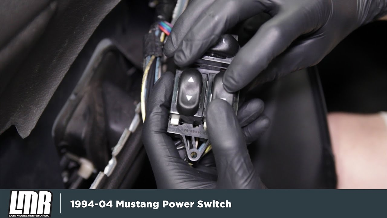 1994 2004 mustang replacement power window switch review install [ 1280 x 720 Pixel ]