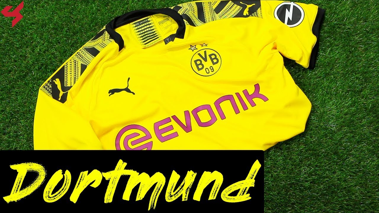 Puma Borussia Dortmund 2019 20 Home Soccer Jersey Unboxing Review Youtube