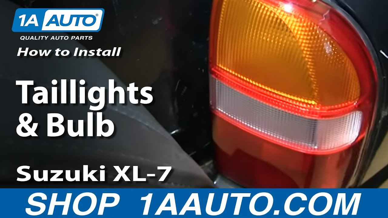 how to install replace change taillights and bulb 2001 03 suzuki xl 7 and vitara [ 1280 x 720 Pixel ]