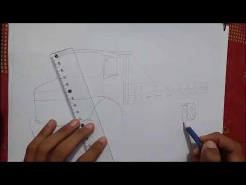 desenhando caminhão mercedes benz 1113 youtube