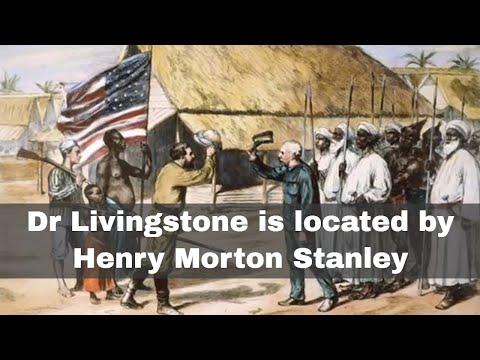 10th November 1871: Henry Morton Stanley locates Dr David Livingstone