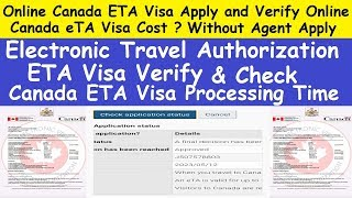 How to Online Canada ETA Visa Apply and Verify Online l Electronic Travel Authorization Visa Check