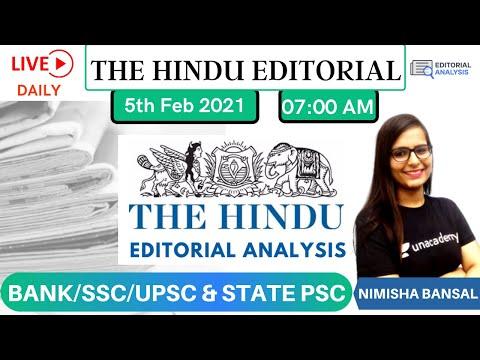 The Hindu Editorial Analysis | 5th Feb | BANK/SSC/UPSC | Vocab Grammar Quiz | Nimisha Bansal