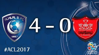 Al Hilal vs Persepolis (AFC Champions League 2017: Semi-finals – 1st Leg) 2017 Video
