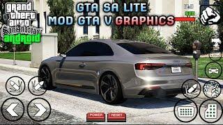 WAJIB COBA!! GTA V GRAPHICS [60KB] MOD For GTA Sa Android | Support All Os Android
