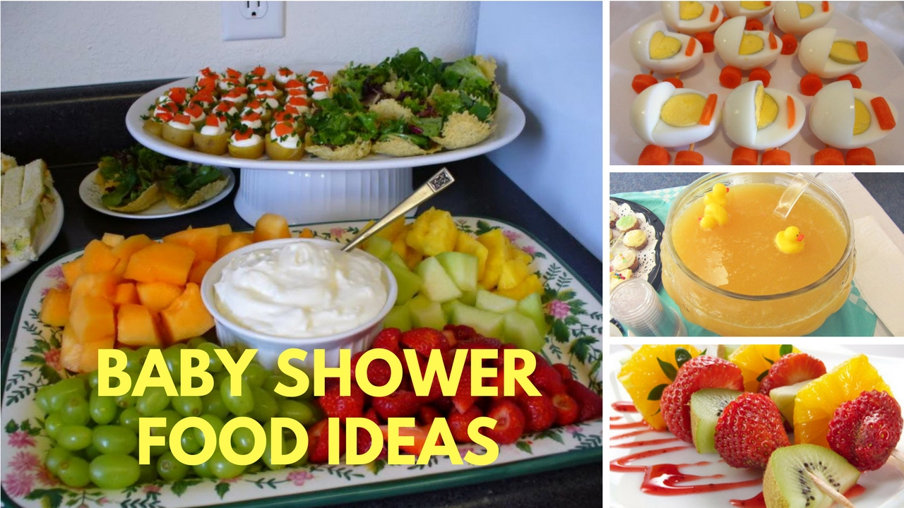 Baby shower food ideas on a budget theme and decoration for Baby shower food decoration ideas