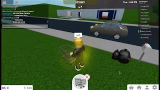 Roblox Bloxurg-What if you bring a shopping cart to your house?