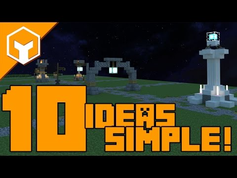 ✔ 10 EASY Street Lights and Sign Ideas in Minecraft with DOWNLOADS