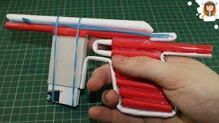 Pistola de Papel - (Com Carregador de 5 Balas)