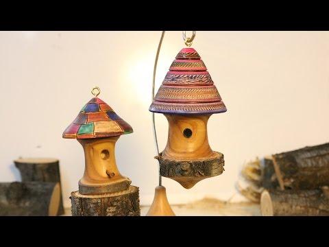 Bark Edge  Birdhouse Ornament    by  Sam Angelo
