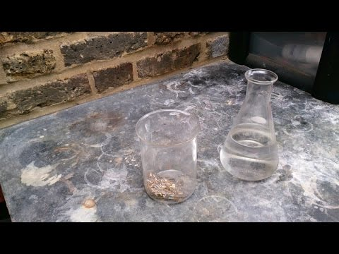Gold Recovery using peracetic acid (White vinegar + Hydrogen peroxide)
