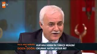 Kur'an-ı Kerim'in türkçe mealini okumak hatim sayılır mı? - atv