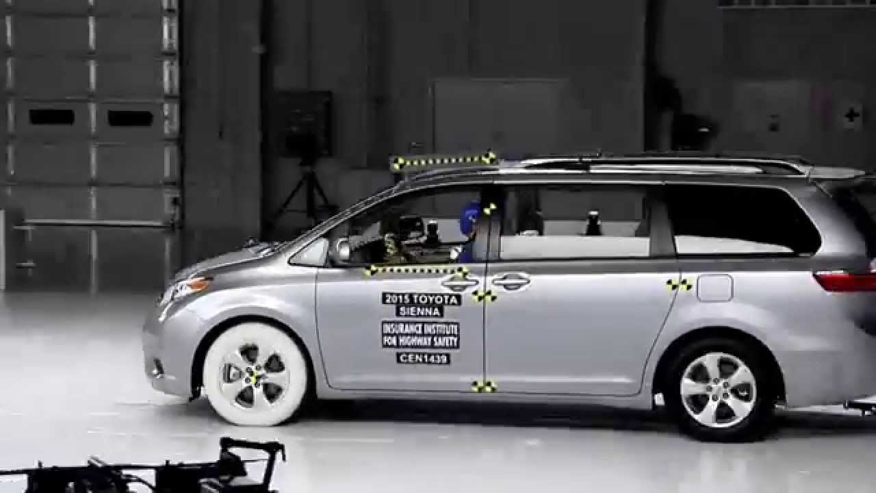 2015 2020 Toyota Sienna Iihs Small Overlap Crash Test