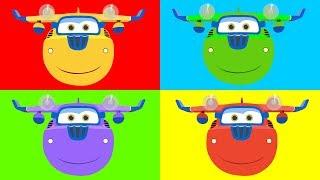 Раскраска для детей - Супер Крылья - Учим цвета - Самолёт Донни - Мультик - Super Wings