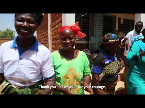 Thank you from Burkina Faso