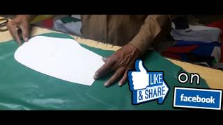 Leather Cutting / How we cut the Leather best Reviews Leather for Boxing Equipment