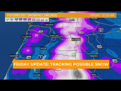 Friday Weather Update: Tracking Possible Snow In Portland Next Week