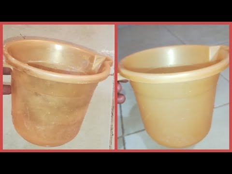 Bathroom Mug or Bucket Cleaning  Clean plastic mug at home  How to clean Bucket Cleaning Tips Telugu