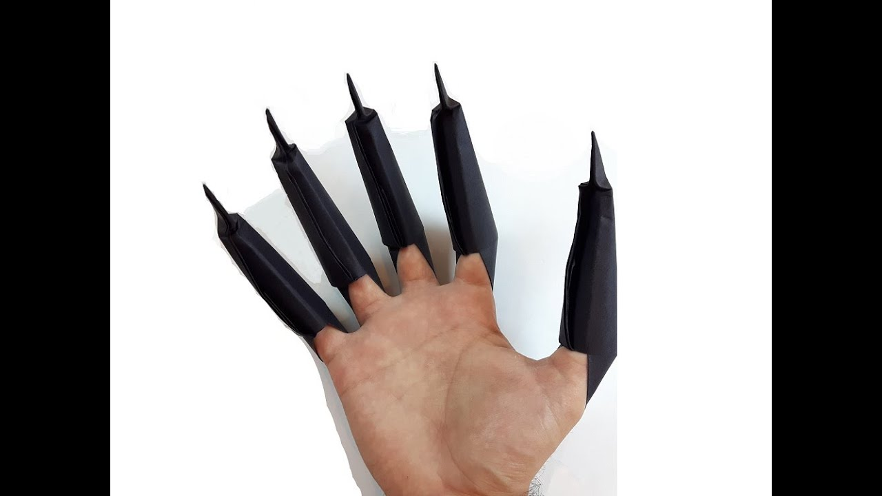 Origami Black Panther Claws