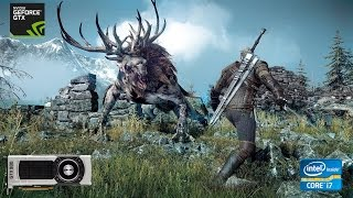 The Witcher 3 Boss Fight Ultra Settings HairWorks - GTX 980 - Intel i7 3770 - 60FPS