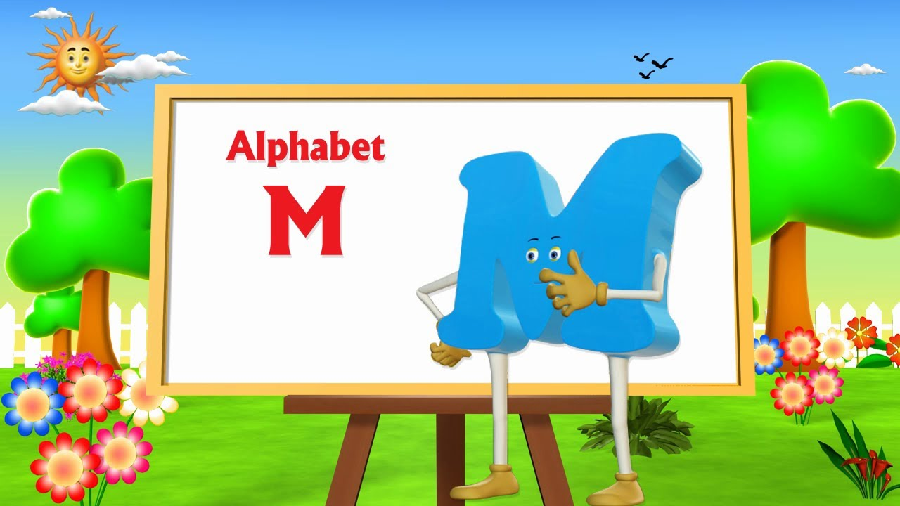 Letter M Song 3d Animation Learning English Alphabet Abc
