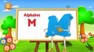 Letter M Song - 3D Animation Learning English Alphabet ABC Songs For children