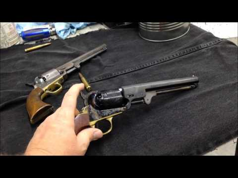 """Pietta 1851 Colt Navy """"Yank"""" pistol .36 unboxing and compared to original"""